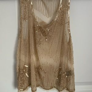 Tops - Vintage Gold Sequin Top